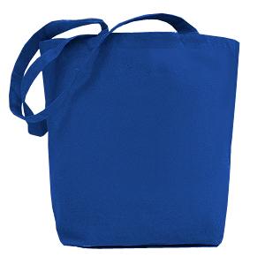 e43f48428121 Холщовая сумка с донной складкой, плотность 240 гр., синяя ...
